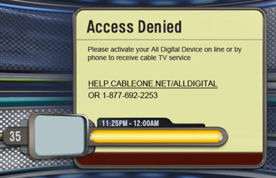 All Digital Access Denied