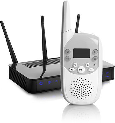 Image of a router and baby monitor